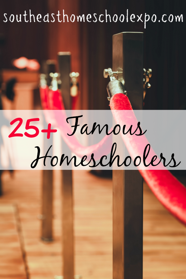 Stories of homeschoolers from the past can be a great way to show your child how homeschooling has grown. Here are 15 Famous homeschoolers!