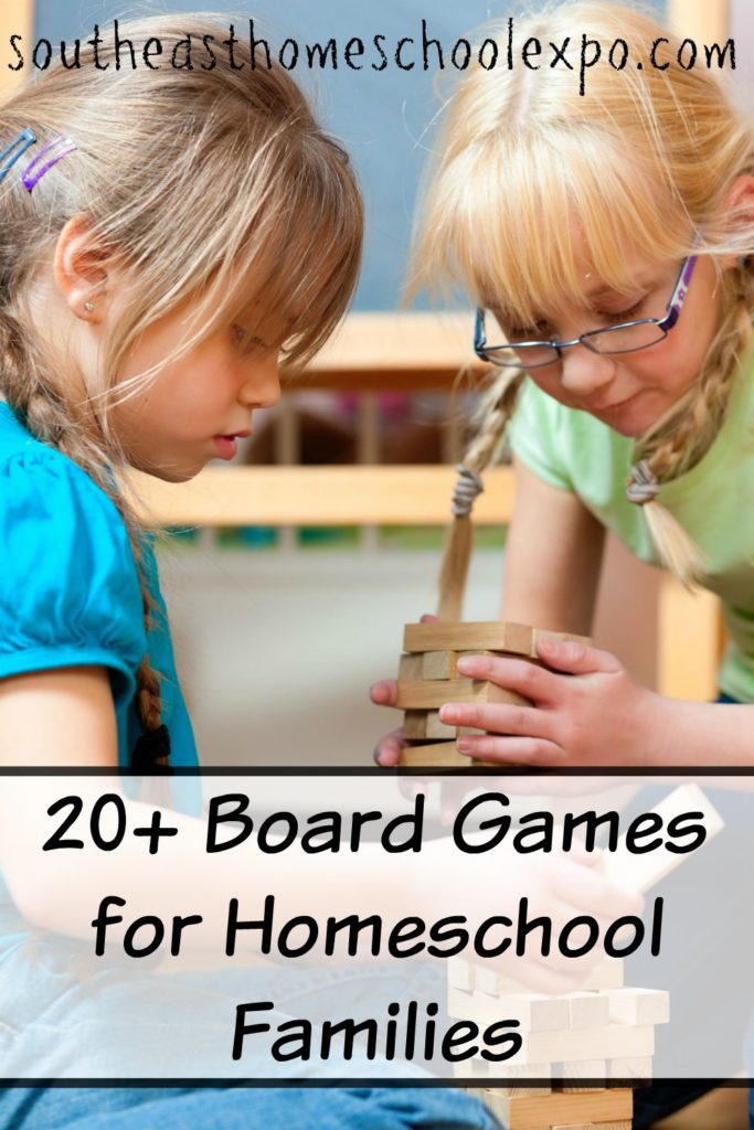 Board games can be fun and educational! Here are some great educational board games for homeschool families!