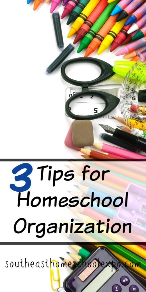 Homeschool organization does not have to be difficult. With these three simple tips you can be on your way to a more organized homeschool!