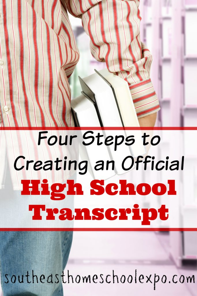 Concerned about creating your homeschoolers high school transcript? You don't have to be! Broken down step by step, here is what you need to create an official high school transcript.