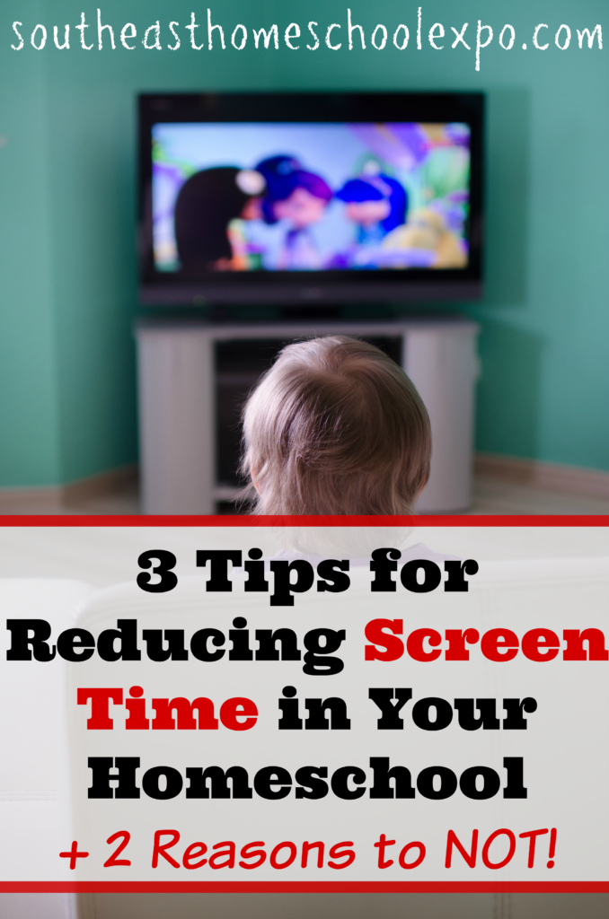 I'm sharing three tips for reducing screen time in your homeschool, but I'm also sharing two reasons NOT to. Because on this one I just can't make up my mind!